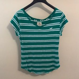 Hollister Striped Cap Sleeve Top M